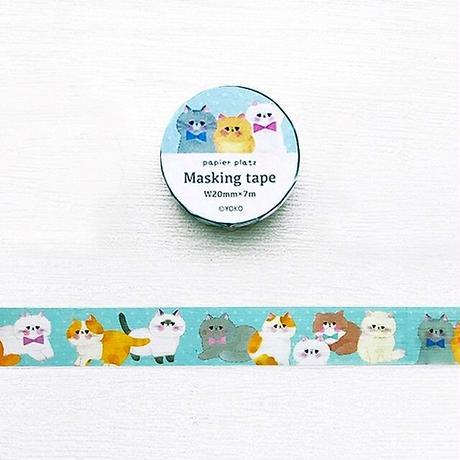 パピアプラッツ 猫の集会 マスキングテープ YOKO