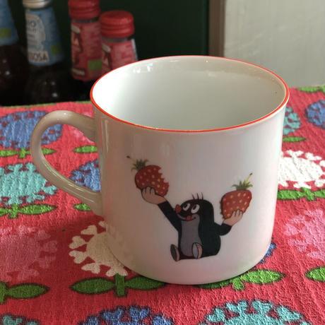 チェコ製 クルテク マグカップ いちご レトロ 食器