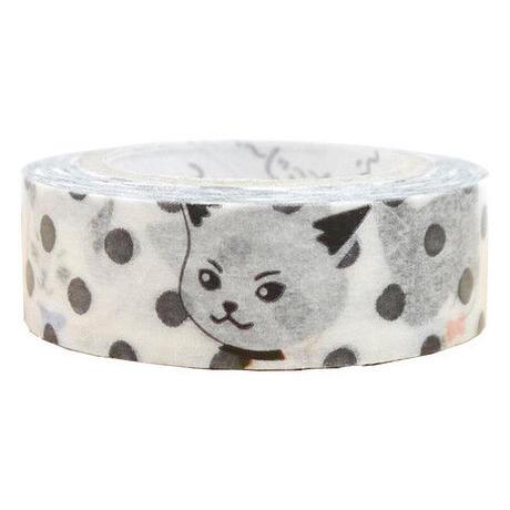 ふ〜じこちゃん 猫 マスキングテープ ドット