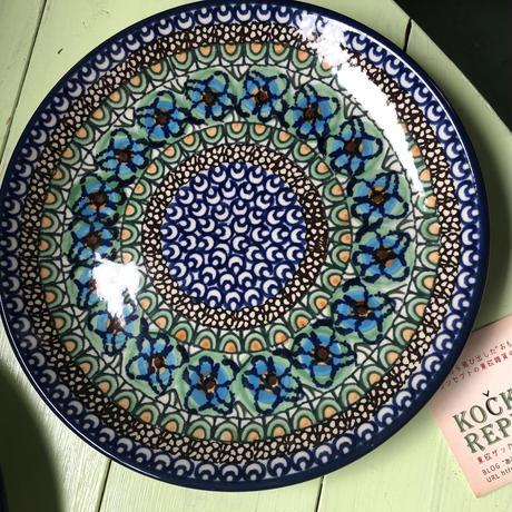ポーリッシュポタリー 花皿 ポーランド陶器