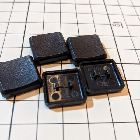 MBK Choc Low Profile キーキャップ (黒 1U 5個) / Black 1U 5pcs