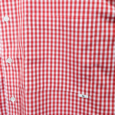 ämne / gingham B.C L_s shirts  (Orange)