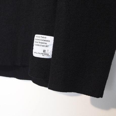 H.UNIT / Boiled wool cut off basque shirt