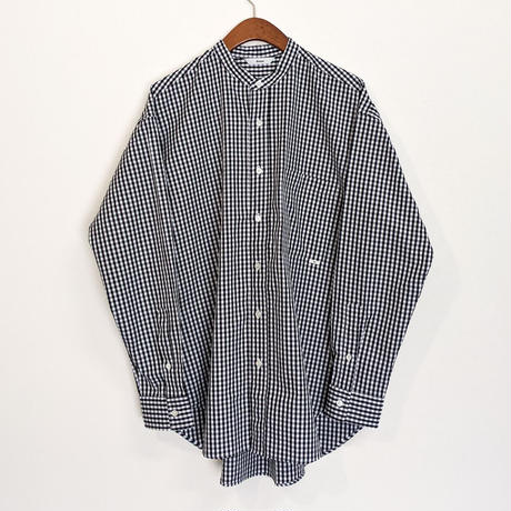 ämne / gingham B.C L_s shirts  (Black)