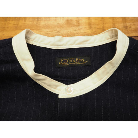 MULLER & BROS. / stand collar shirts (cotton/wool)