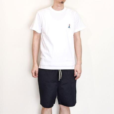 H.UNIT / H.UNIT BOY 刺繍 tee ( WHITE )