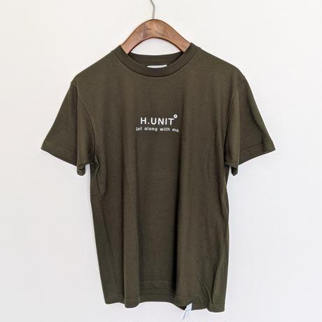 H.UNIT / H.UNIT logo print tee