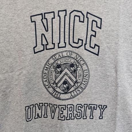 H.UNIT / Nice college print tee ( GRAY )