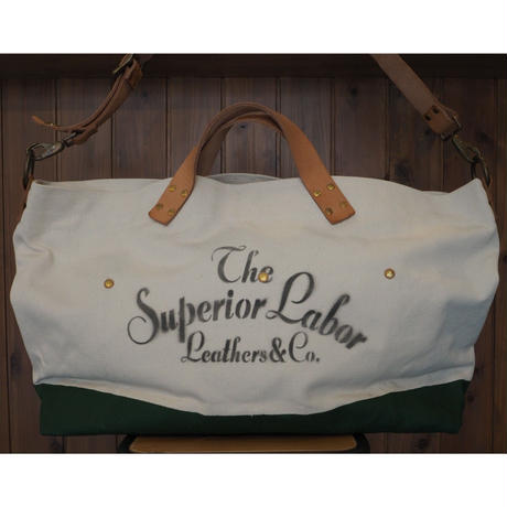 THE SUPERIOR LABOR / engineer shoulder bag L (Natural/Green)