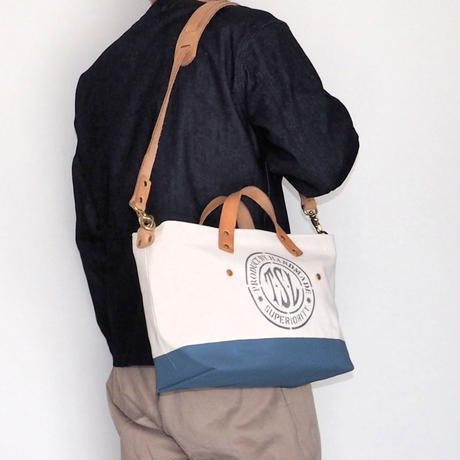 THE SUPERIOR LABOR / engineer shoulder bag XS(blue gray)