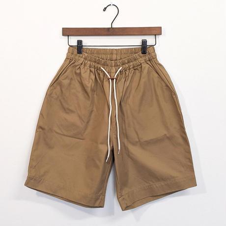 H.UNIT / Gaba easy wide shorts ( BEIGE )