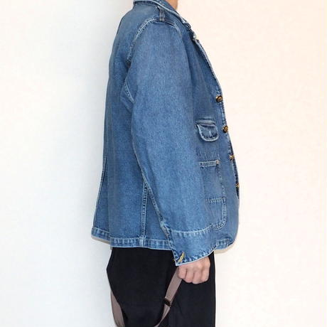 H.UNIT / 12oz indigo denim coverall (Real wash)