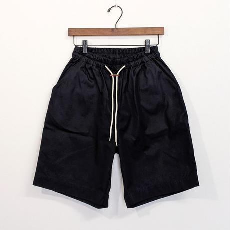 H.UNIT / Gaba easy wide shorts ( NAVY )
