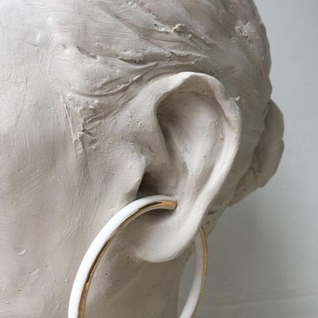 THIS SIDE BLACK  Earrings S Platinum