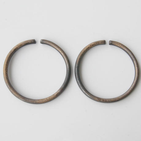 THIS SIDE BLACK  Earrings L Bronze