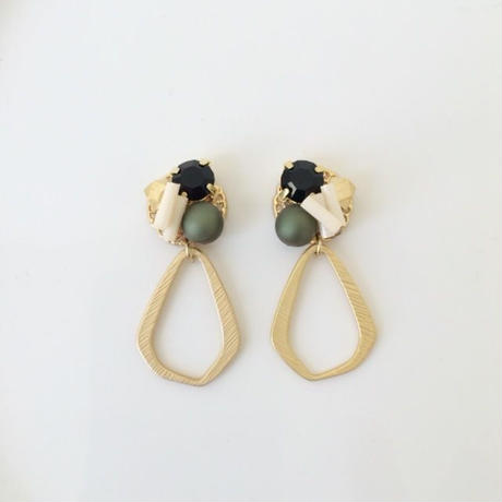 metal×drop pierce/earring