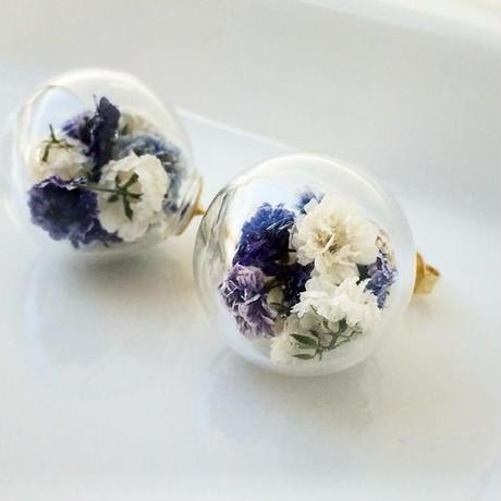 flower dome pierce/earring