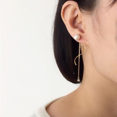 back wave pierce/earring
