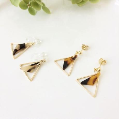 double triangle <akiiro> pierce/earring