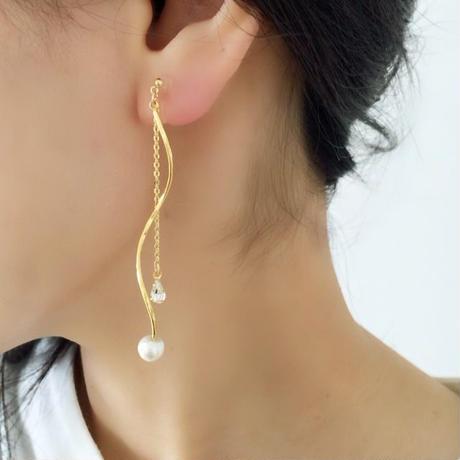 wave2  pierce/earring