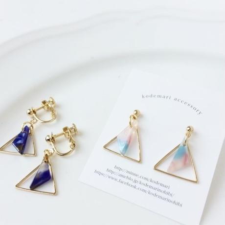 double triangle pierce/earring