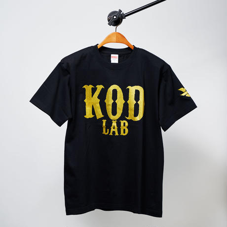 KOD LAB Tシャツ  黒/金