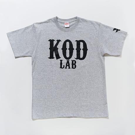 KOD LAB Tシャツ  グレー/黒