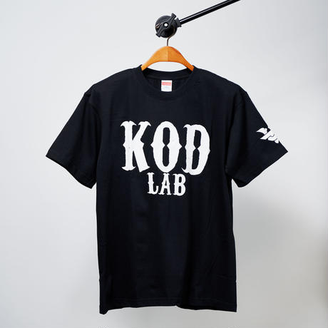 KOD LAB Tシャツ  黒/白