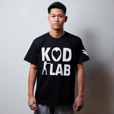 KOD LAB Tシャツ  黒/白ハート