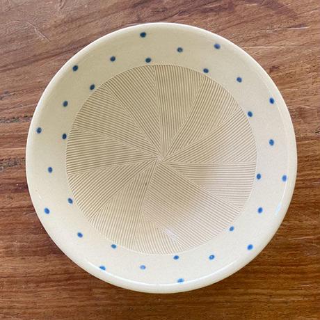 4.5号すり鉢 水玉_ブルー