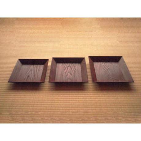 四方盆 三枚組 <志野流向>