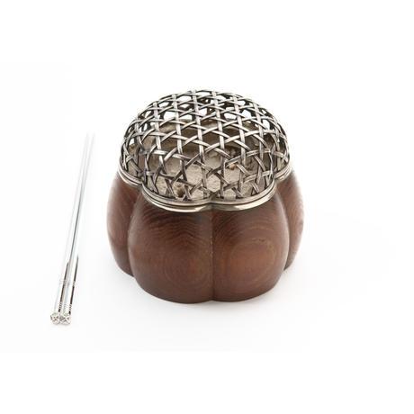 火取火箸/真鍮・銀メッキ製