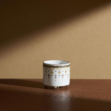 瓔珞文聞香炉/一対(=二基)桐箱入【香道具ファンドNo.5-2】