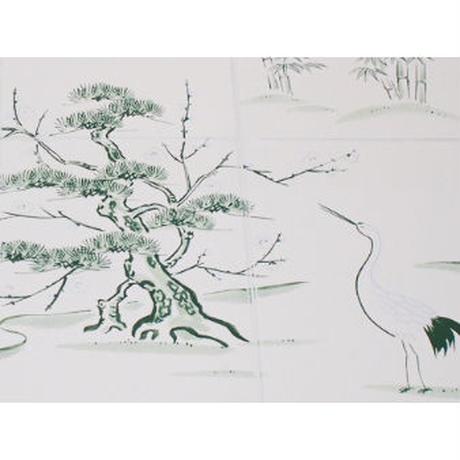 地敷紙 鳥の子 絵入