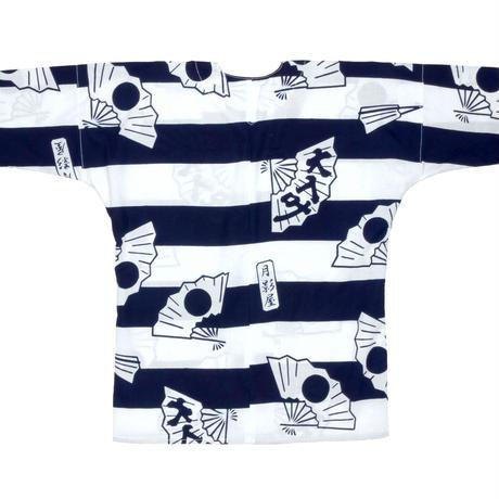 日の丸扇の鯉口シャツ・ヨコシマ