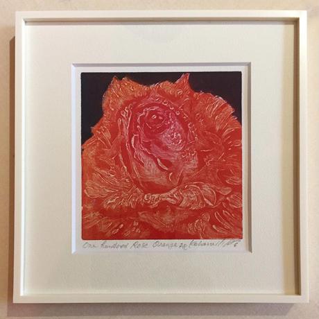 """アートプリント・シリーズ """"One hundred rose - 023 Orange"""""""