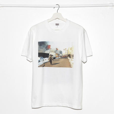 """Fire in Brooklyn"" Double Side Photo Printed T-shirts"