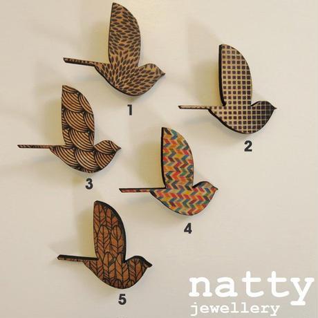 ブローチ 鳥 どうぶつ ニュージーランド デザイナーズアクセサリー