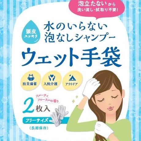 水のいらない泡なしシャンプー ウェット手袋 10袋入り