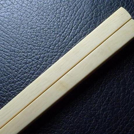 ▲本象牙材彫刻角箸33g/一膳▲NE82▲