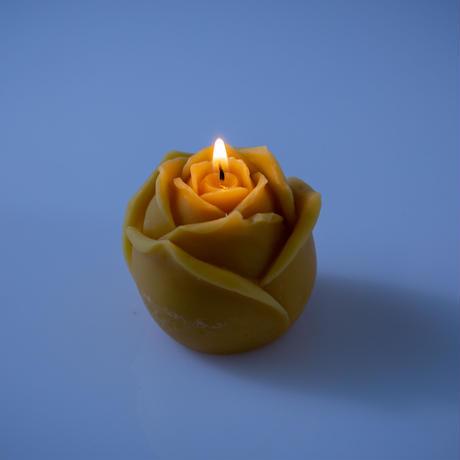 ミツロウキャンドル (薔薇)