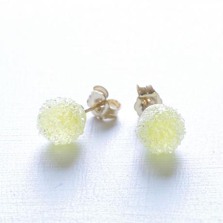 14kgf Bon Bon earrings Lemon