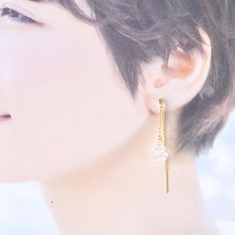 14kgf Shooting Star Chain earrings