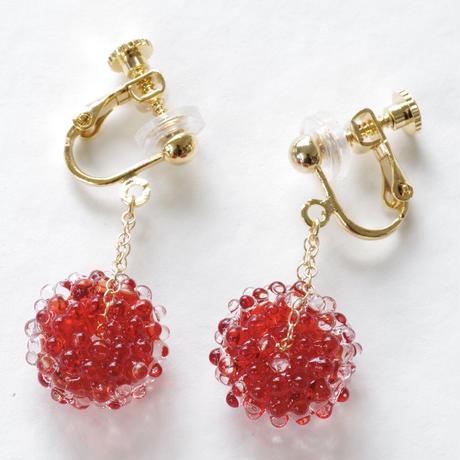 14kgf Mizore earrings Red