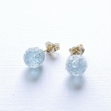 14kgf Bon Bon earrings Ice Blue