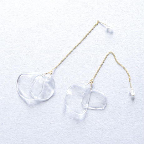 14kgf Disk Chain earrings