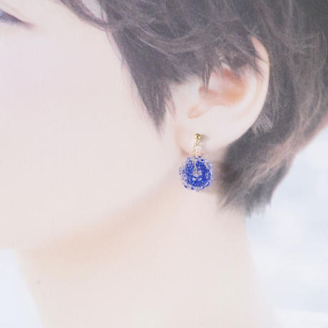 14kgf Mizore earrings Blue