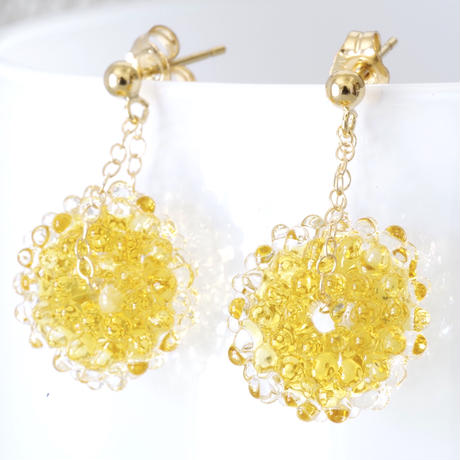 14kgf Mizore earrings Autumn Yellow
