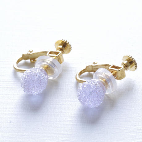 14kgf Bon Bon earrings Lavender