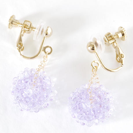 14kgf Mizore earrings Lavender